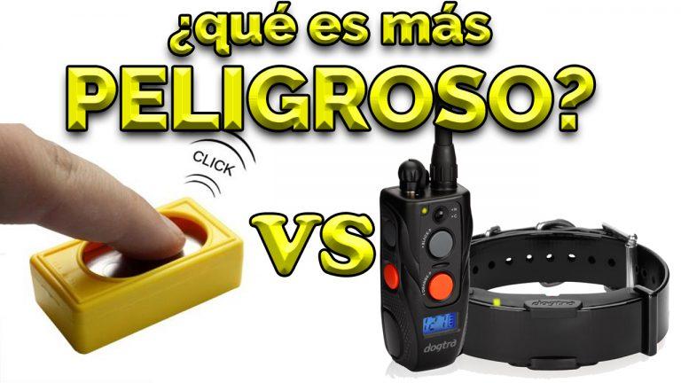 Clicker Collar Eléctrico Peligroso